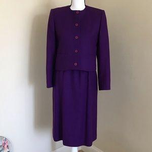 Vintage Wool Blazer Suit Skirt Set Evan Picone 6